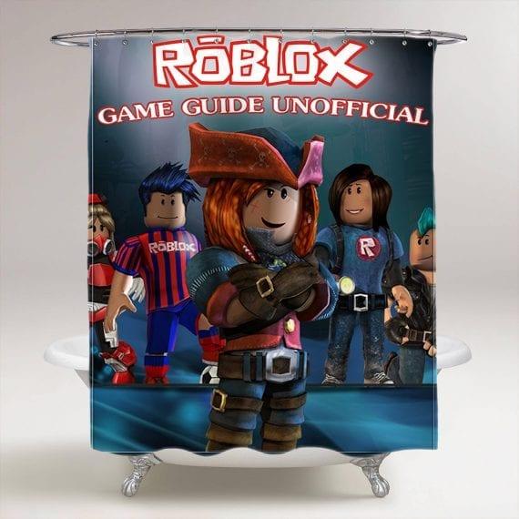 Roblox Game Bathroom Shower Curtain