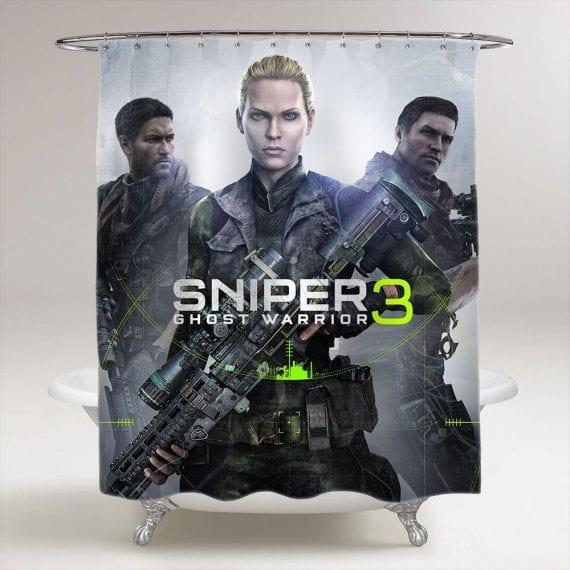 Sniper Ghost Warrior 3 Bathroom Shower Curtain