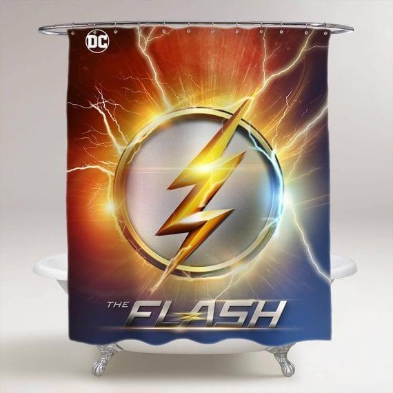 The Flash Logo Bathroom Shower Curtain