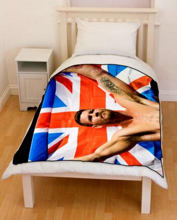 UFC Michael Bisping Bedding Throw Fleece Blanket