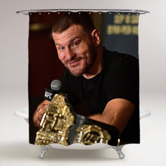 UFC Stipe Miocic Bathroom Shower Curtain