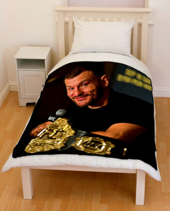 UFC Stipe Miocic Bedding Throw Fleece Blanket