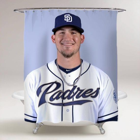 Yasmani Grandal Baseball Bathroom Shower Curtain