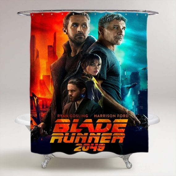 blade runner 2049 ryan gosling bathroom shower curtain