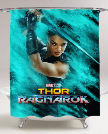 thor ragnarok Valkyrie bathroom shower curtain