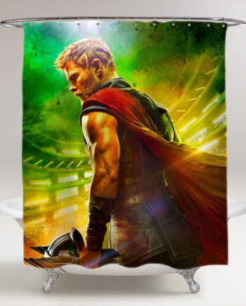 thor ragnarok chris hemsworth bathroom shower curtain