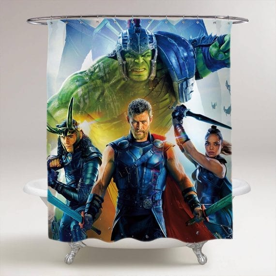 thor ragnarok bathroom shower curtain