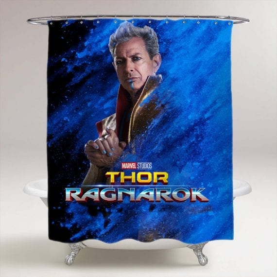 thor ragnarok grandmaster bathroom shower curtain