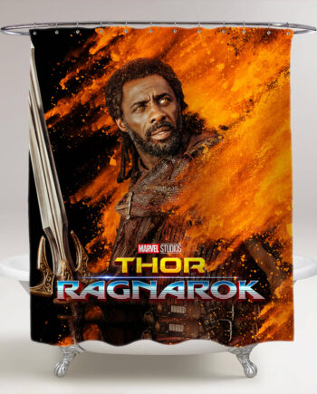 thor ragnarok heimdall bathroom shower curtain