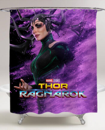 thor ragnarok hela bathroom shower curtain