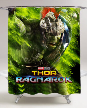 thor ragnarok hulk bathroom shower curtain