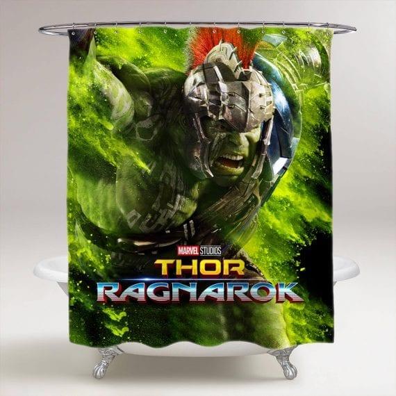 thor ragnarok hulk bathroom shower curtain