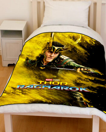 thor ragnarok loki bedding throw fleece blanket
