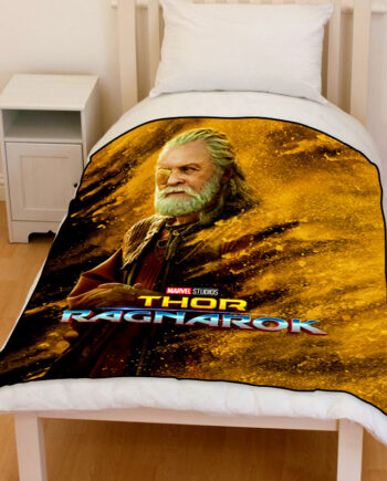thor ragnarok odin bedding throw fleece blanket