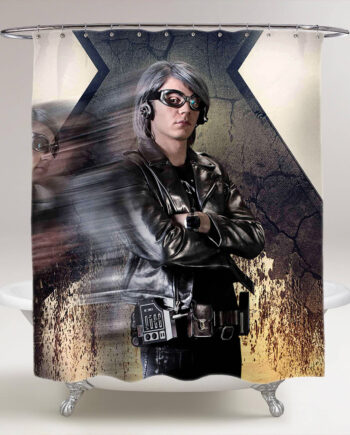 x-men quicksilver bathroom shower curtain