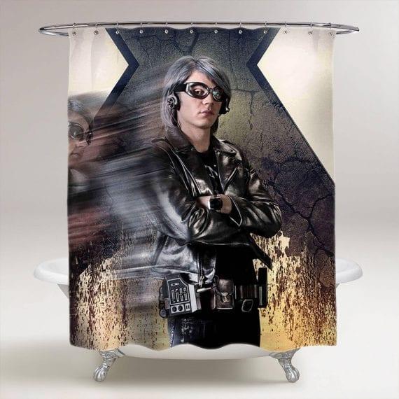 x-men quicksilver bathroom shower curtain