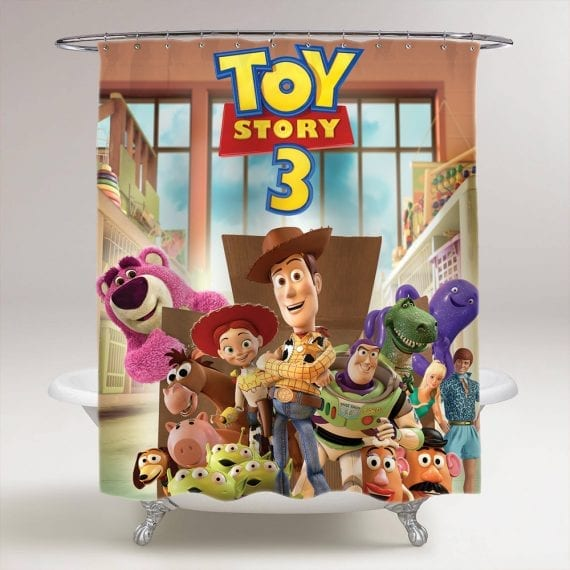 toy story 3 bathroom shower curtain