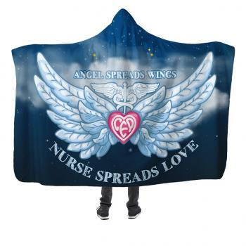 nurse spread love hooded blanket