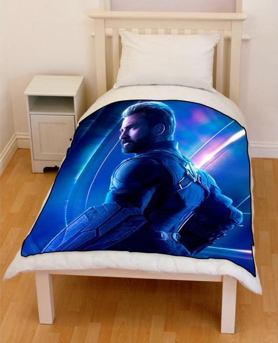 Avengers Infinity War Captain America 2018 bedding throw fleece blanket