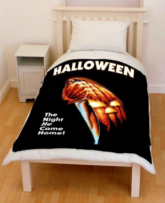 Halloween 2018 the night he came home bedding throw fleece blanket