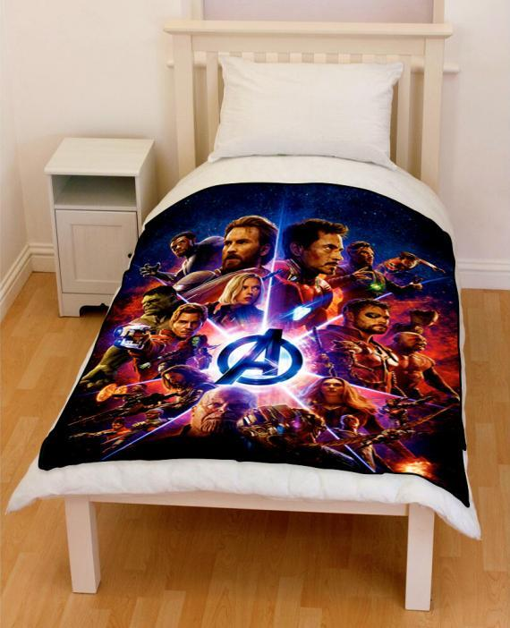 avengers infinity war superheroes 2018 villains bedding throw fleece blanket