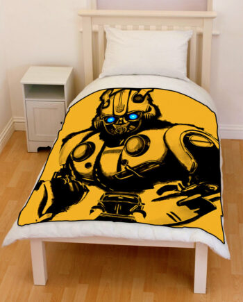 Bumblebee Transformers 2018 bedding throw fleece blanket