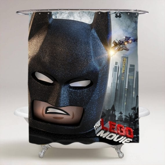 Lego Movie Batman shower curtain