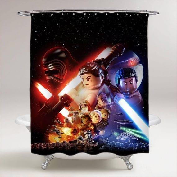star-wars-lego-the-force-awaken-shower-curtain-shower-curtain