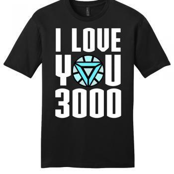 avengers end game i love you 3000 iron man premium unisex shirt
