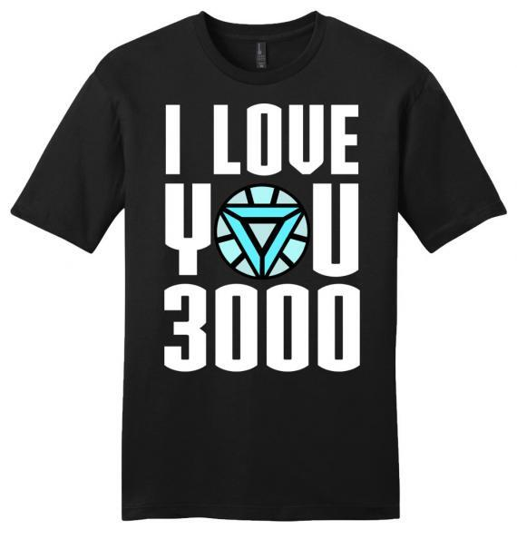 avengers end game i love you 3000 iron man premium unisex shirt