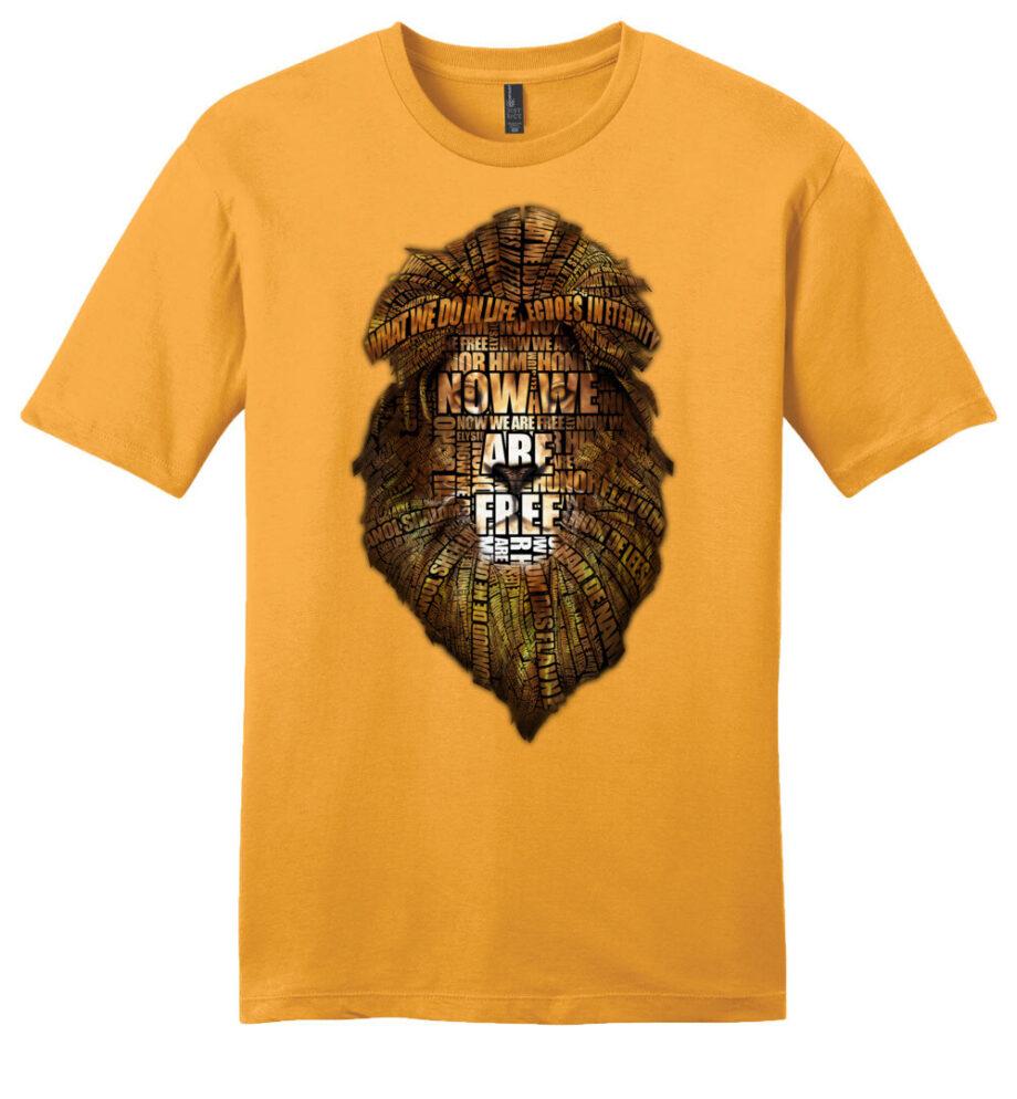 gladiator movie now we are free gold unisex shirt