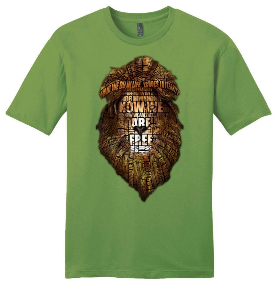 gladiator movie now we are free kiwi green unisex shirt