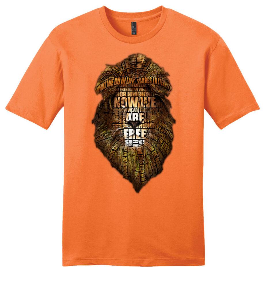 gladiator movie now we are free orange unisex shirt