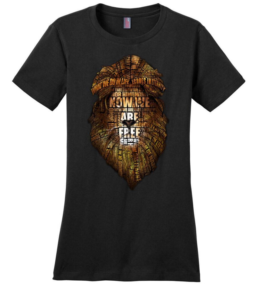 Gladiator movie Now We Are Free Women's black Shirt