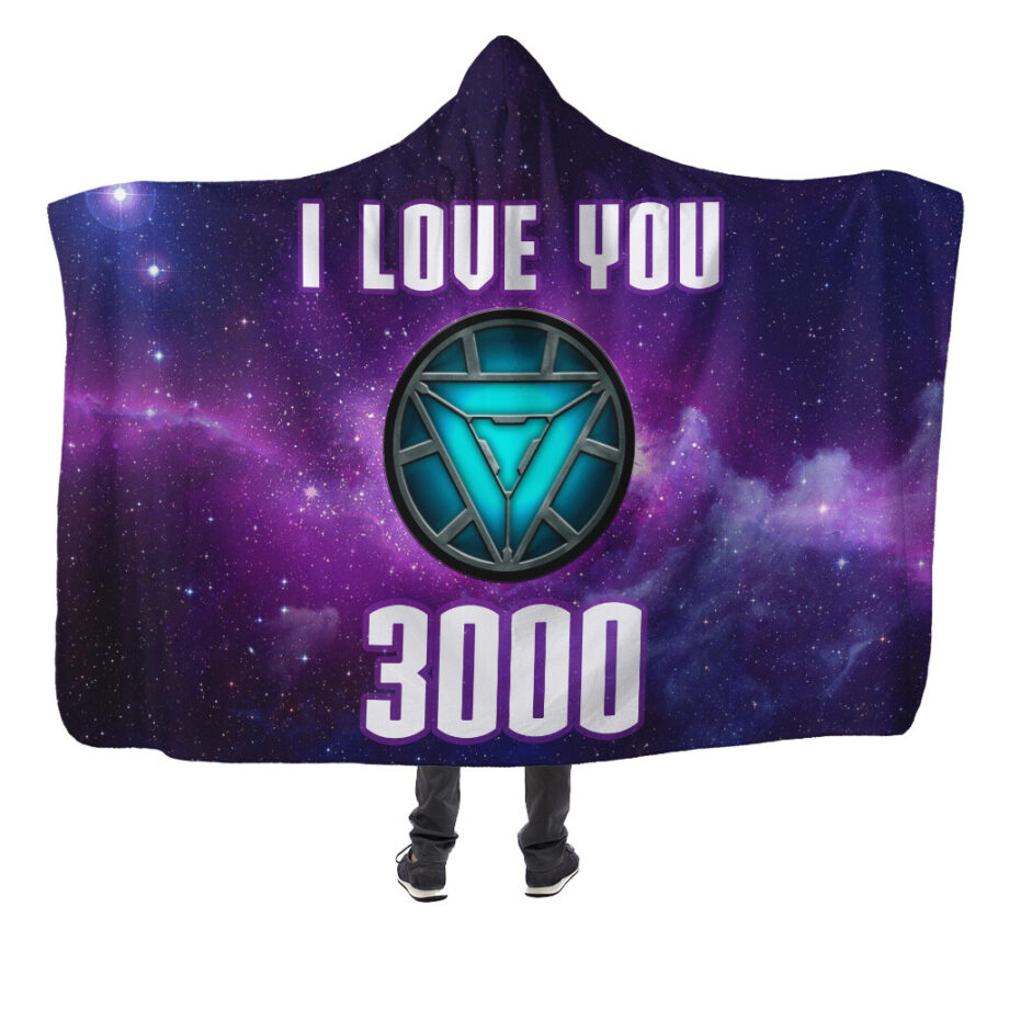 avengers iron man end game i love you 3000 hooded blanket 1