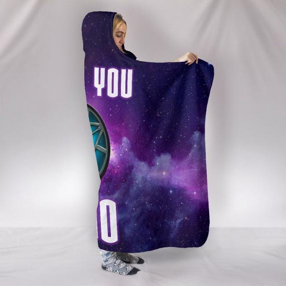 avengers iron man tony stark i love you 3000 hooded blanket 2