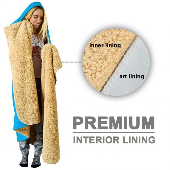 sherpa hooded blanket premium inner lining