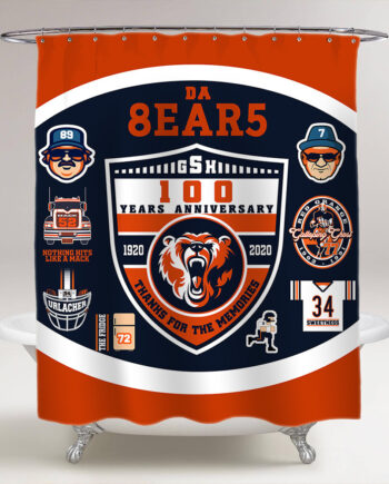 chicago bears 100 years shower curtain