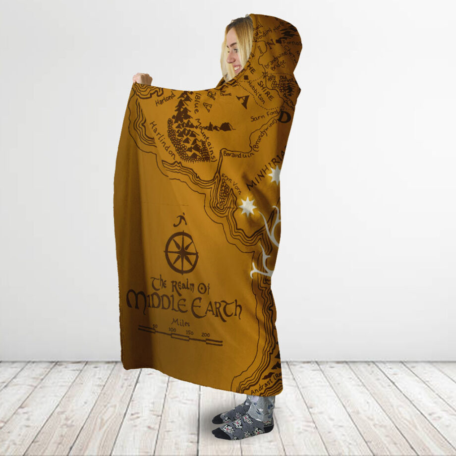 white tree of gondor lord of the rings hooded blanket left
