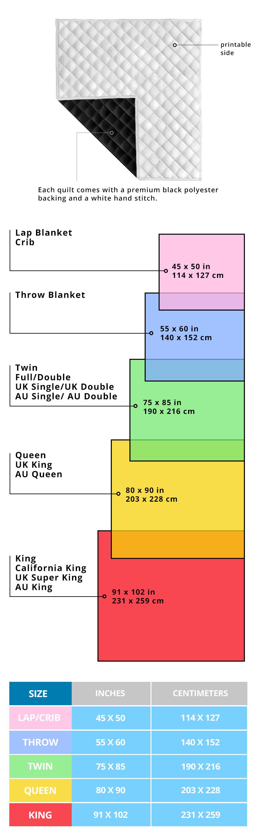 Size Chart Quilt