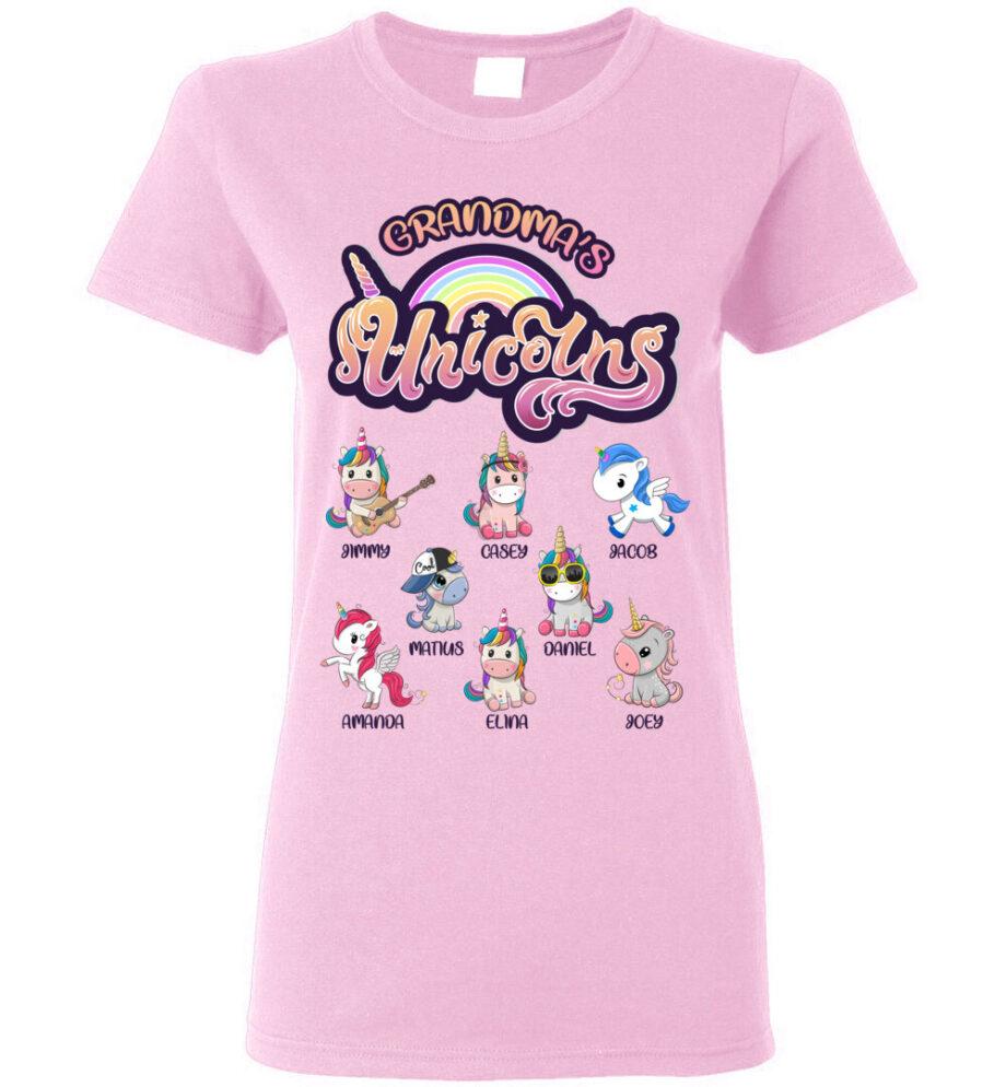 grandma's unicorns grandkids shirt