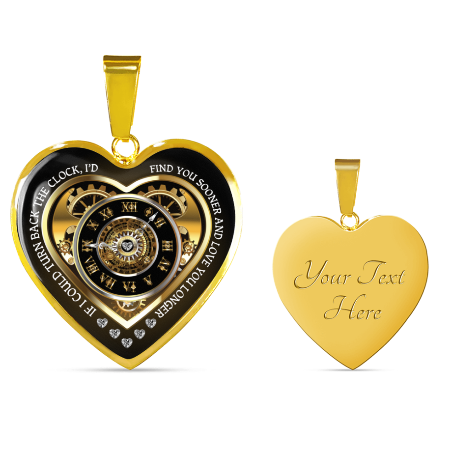Turn back the clock romantic wife gift heart necklace gold 02