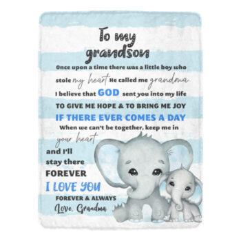 grandma to grandson elephant blanket