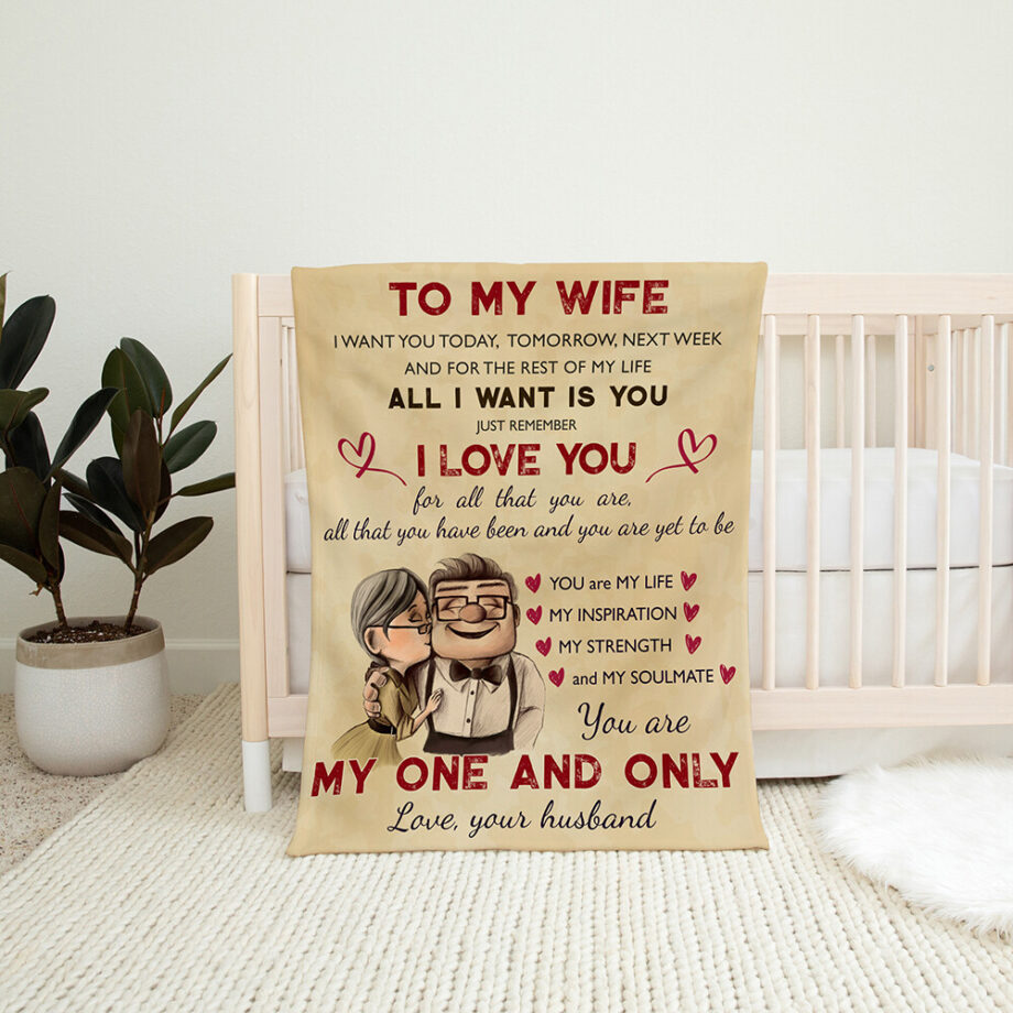 anniversary gift you are my one and only blanket