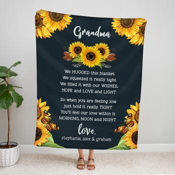 Personalized Sunflower Grandma Blanket