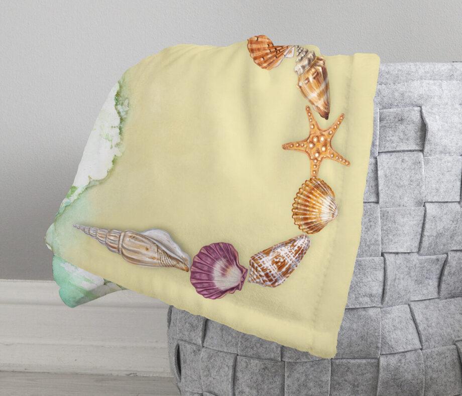 seashells beach blanket 5