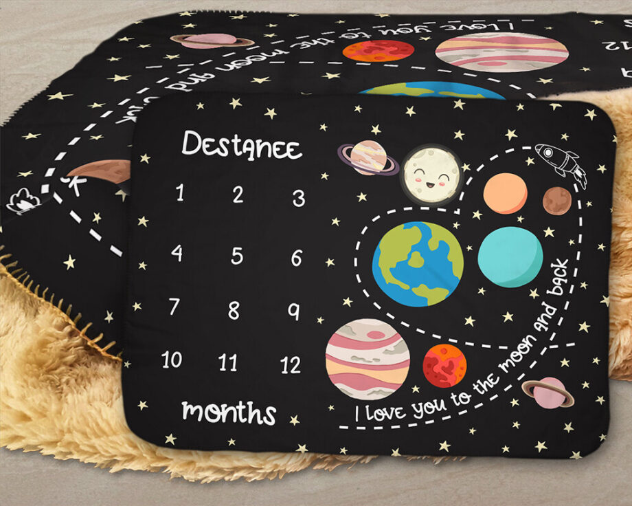 solar system outer space baby milestone sherpa blanket1