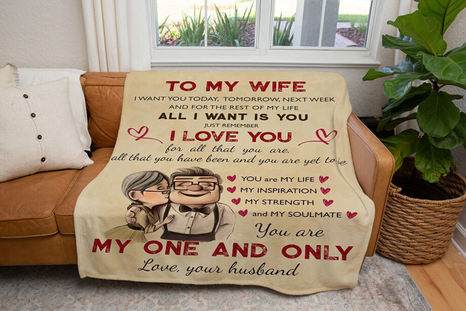 to my wife you are one and only minky blanket