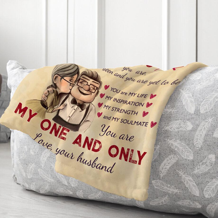 to my wife minky blanket