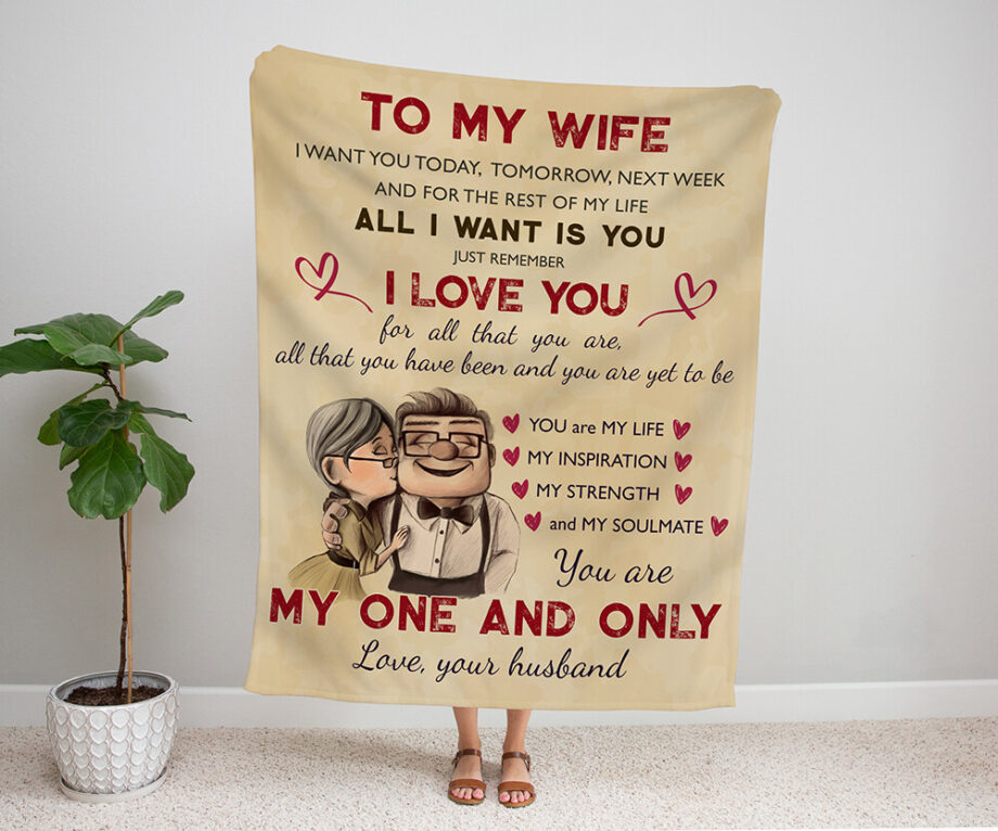 to my wife you are my one and only blanket